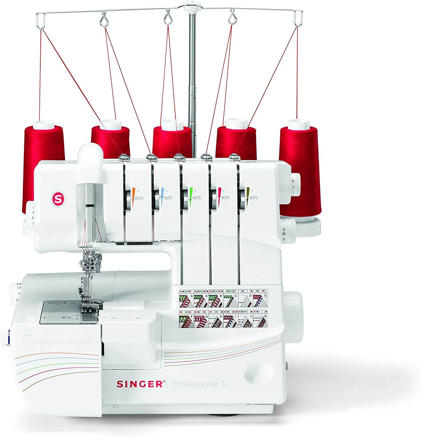 SINGER Professional 5 14T968DC Serger with 2-3-4-5 Threaded Capability